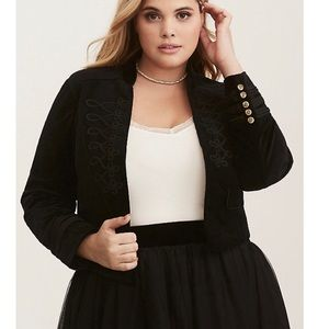 Torrid military style cropped jacket